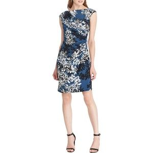 American living faux wrap jersey ruched dress NWT